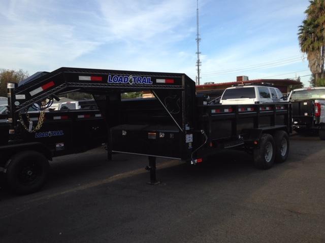 "2019 Load Trail 83"" X 14' Tandem Axle Gooseneck Dump Dump Trailer"