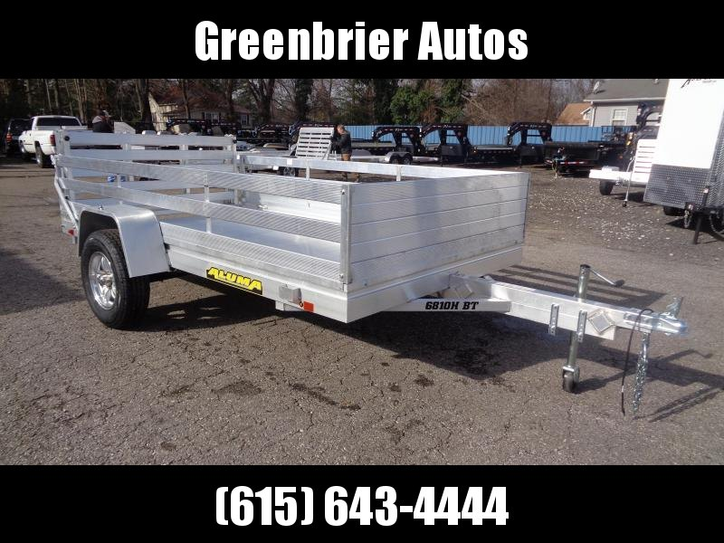 2020 Aluma 6810H-BT w/ 2' Side Rack Utility Trailer