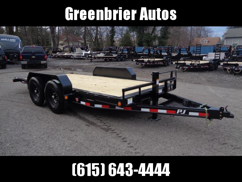 2020 PJ Trailers 16' x 6 in. Channel Equipment Tilt (T6) Equipment Trailer