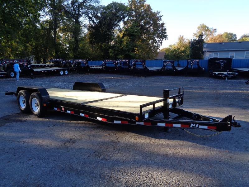 2020 PJ Trailers 22 x 6 in. Channel Equipment Tilt (T6) Equipment Trailer