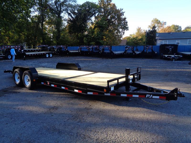 2020 PJ Trailers 22 x 6 in. Channel Equipment Tilt (T6) Equipment Trailer