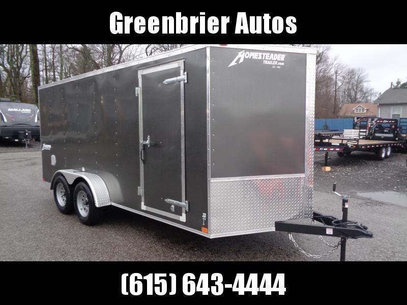 2020 Homesteader Intrepid 7' x 16' x 6' Enclosed Cargo Trailer