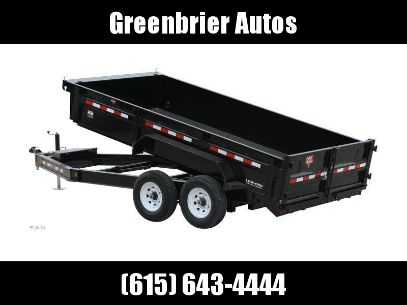 "2020 PJ Trailers 14' x 83"" Low Pro Dump (DL) *DROP AXLE*"
