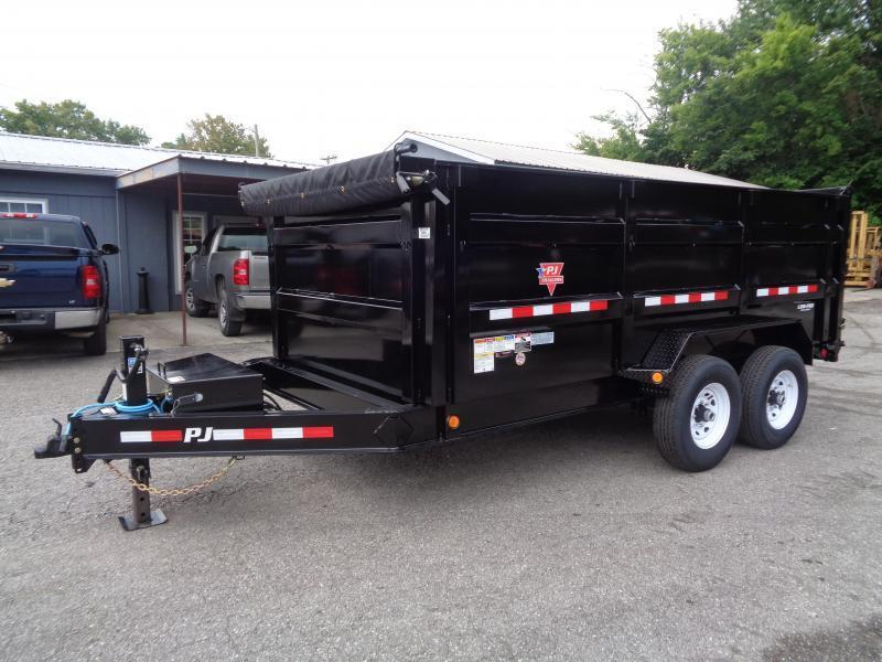 "2020 PJ Trailers 14' x 83"" Low Pro High Side Dump Trailer (DM)"