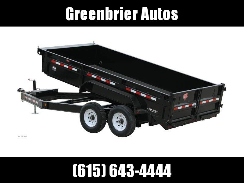 "2020 PJ Trailers 16' x 83"" Low Pro Dump (DL) Dump Trailer"