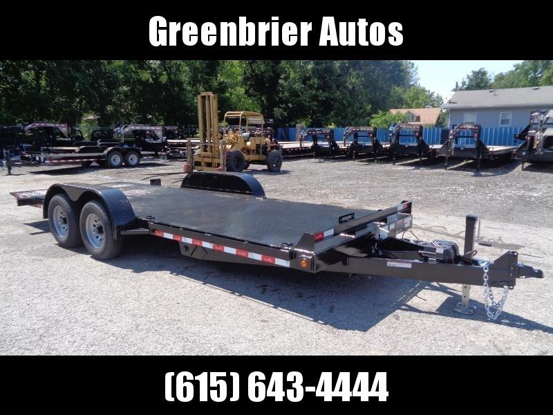 2020 Hawke Trailers 20' 10K GVWR Standard Power Tilt Equipment Trailer