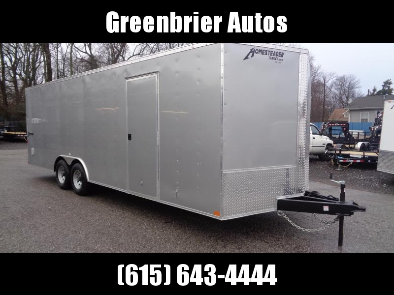 2020 Homesteader Intrepid 8.5' x 24' x 6.5' Enclosed Car Trailer