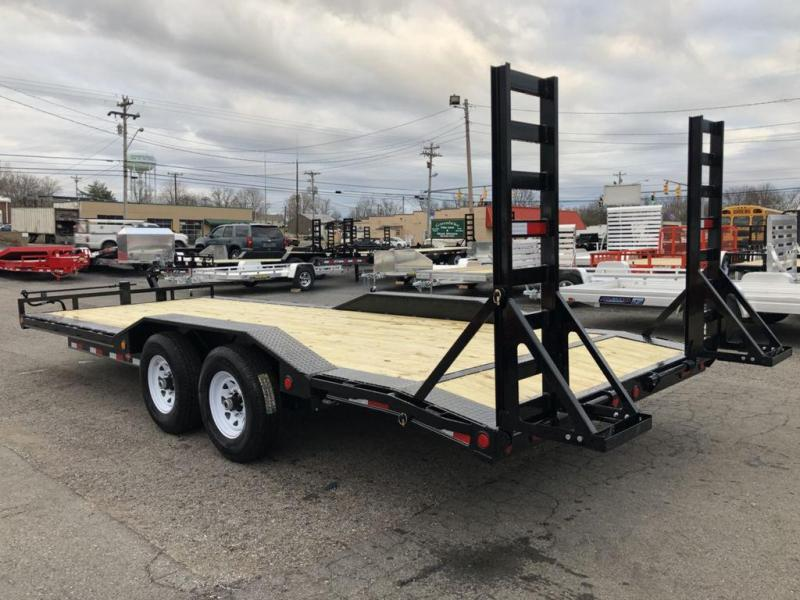 "2019 PJ Trailers 22' x 6"" Channel Super-Wide Equipment Trailer (B6)"