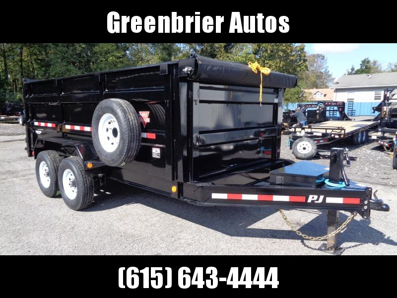 2020 PJ Trailers 14' x 83 Low Pro High Side Dump (DM) *Highly Optioned*