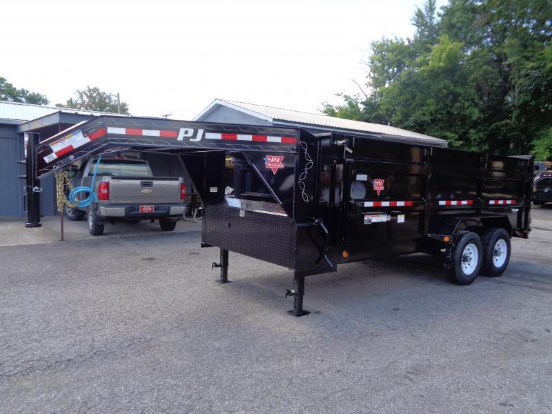 "2020 PJ Trailers 16' x 83"" Low Pro High Side Dump Trailer (DM)"