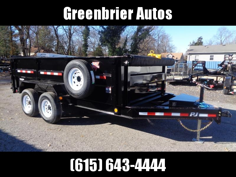 "2020 PJ Trailers 14' x 83"" Low Pro High Side Dump (DM) Dump Trailer"