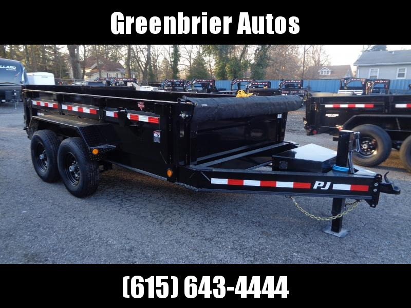 "2020 PJ Trailers 12' x 83"" Low Pro Dump (DL) Dump Trailer"