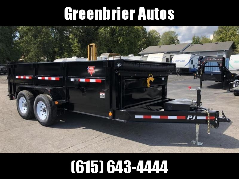 "2020 PJ Trailers 14' x 83"" Low Pro High Side Dump (DM)"