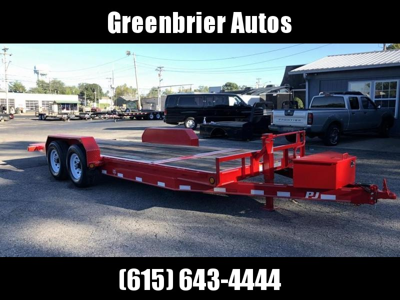 "2019 PJ Trailers 20' x 6"" Channel Equipment Tilt (T6)"