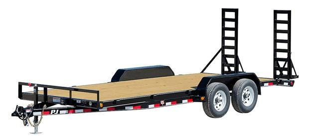 2020 PJ Trailers 6.10x18 5 in. Channel Equipment (CE) Equipment Trailer