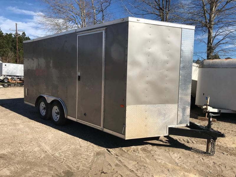 2019 Rock Solid Cargo USED 8.5x16 TA VN Enclosed Cargo Trailer