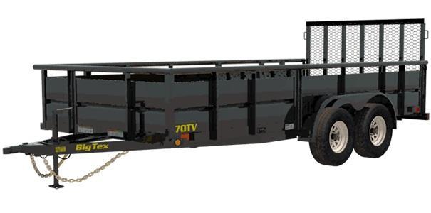 2020 6.10x16 Big Tex Trailers 70TV-16 Utility Trailer