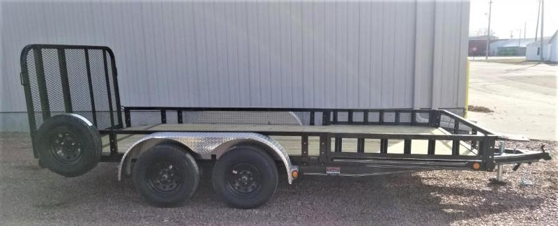 "2020 PJ Trailers 16' x 83"" Tndm Axle Channel Utility Trailer"