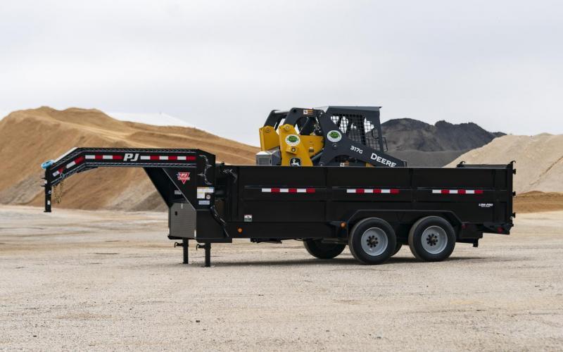 2020 PJ Trailers 16' HD Low Pro Dump Dump Trailer