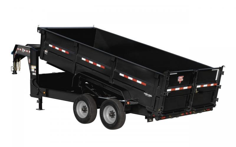 2020 PJ Trailers 16' HD Low Pro Dump Dump Trailer
