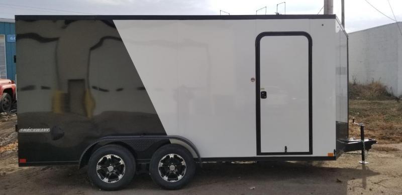 2020 Impact Trailers 7 x 16 Shockwave Blackout Enclosed Cargo Trailer