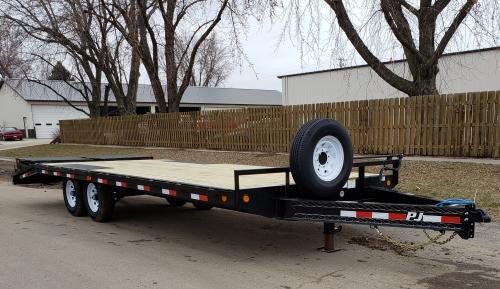 2019 PJ Trailers 24' x 8 in. I-Beam Deckover (F8) Flatbed Trailer