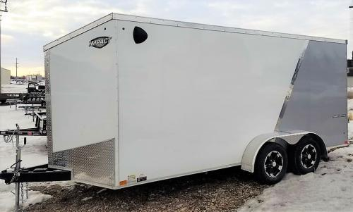 "2019 Impact 7' x 16"" Shockwave Enclosed Cargo Trailer"