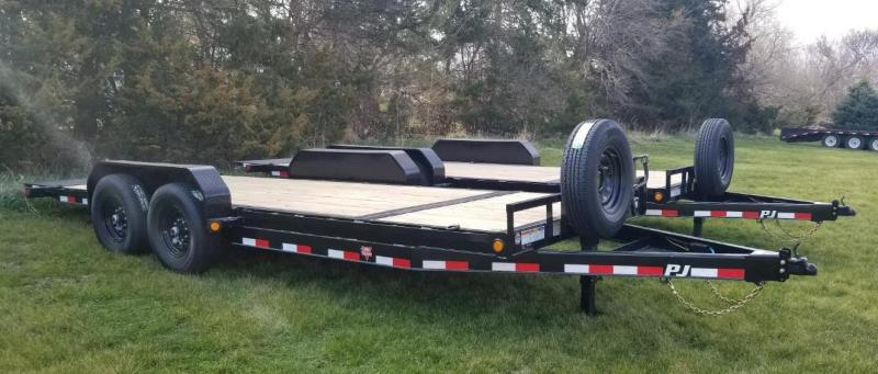 2020 PJ Trailers 20' x 6 in. Channel Equipment Tilt (T6) Equipment Trailer