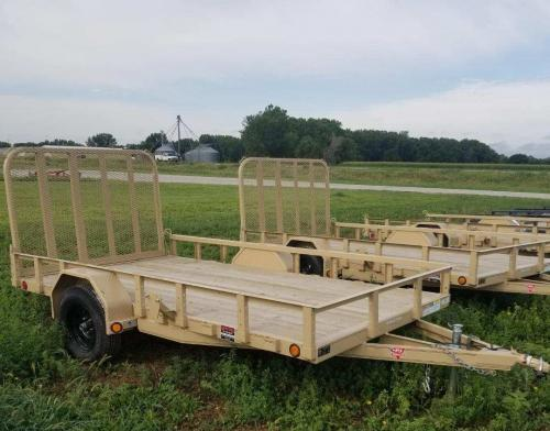 2019 PJ Trailers 12' x 77 in. Single Axle Channel Utility (U7) Utility Trailer
