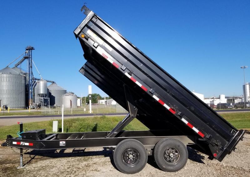 2020 PJ Trailers 14' x 96 in. Deckover Dump (D8) Dump Trailer