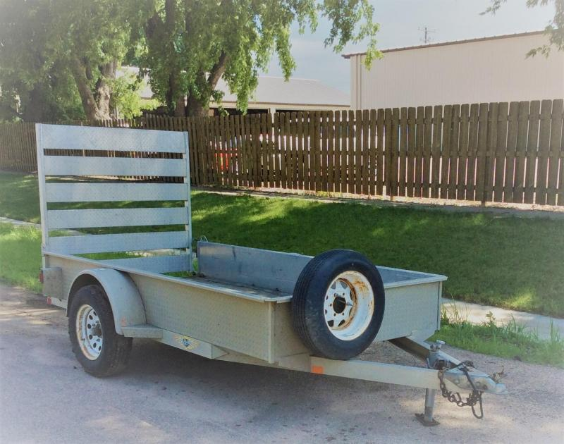 2007 H and H Trailer 5' x 10' Aluminum Utility Utility Trailer