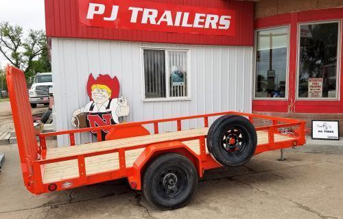 2019 PJ Trailers 12' x 77 in. Single Axle Channel Utility (U7) Utility Trailer