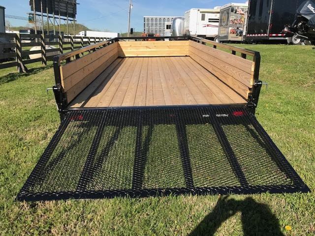 2019 Sure-Trac 7x16 Tube Top 3-Board 7K Utility Trailer