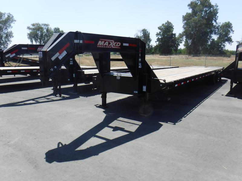 2019 MAXXD 40K GOOSENECK FLATBED Equipment Trailer