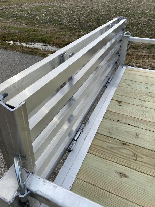 2020 Quality Steel and Aluminum 80x14 Deluxe Aluminum Utility Trailer