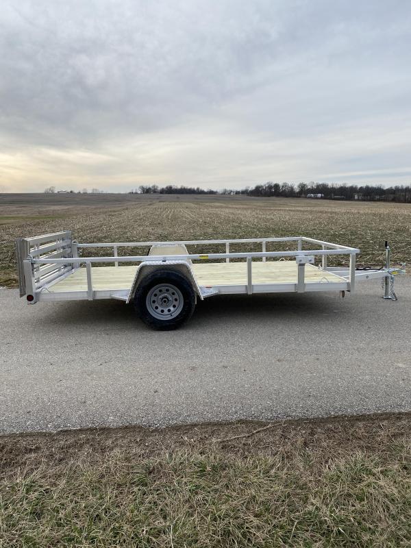 2020 Quality Steel and Aluminum 80x12 Deluxe Aluminum Utility Trailer
