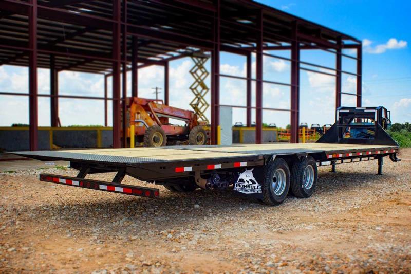 2020 Iron Bull 102x32 Hydraulic Dovetail Flatbed Trailer