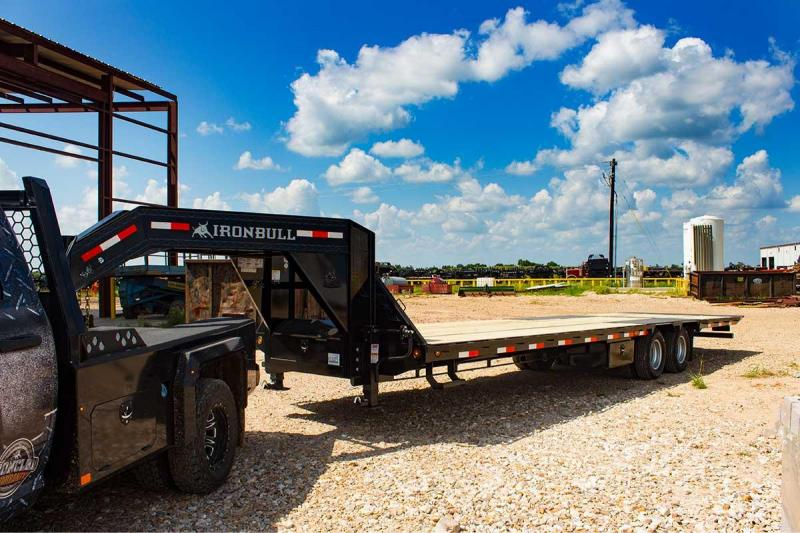 2020 Iron Bull 102x32 Hydraulic Dovetail Flatbed Trailer