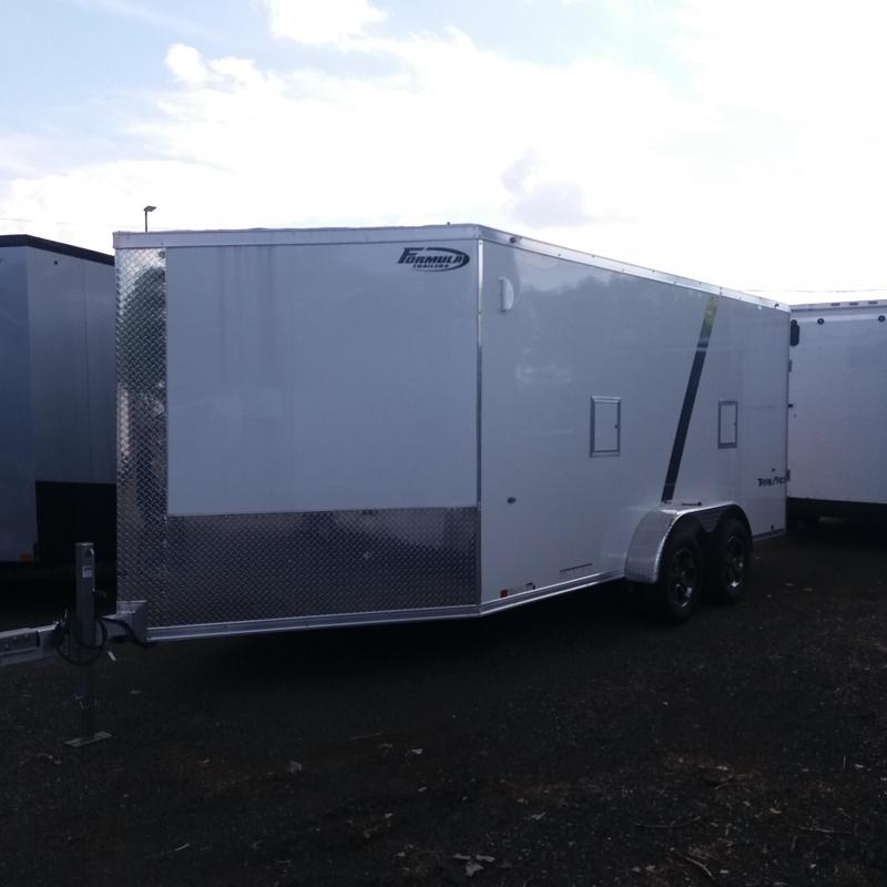 7 X 21 Enclosed Aluminum Snowmobile Trailer
