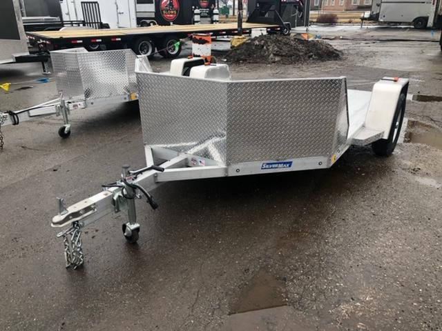 2 Place Open Aluminum Motorcycle Trailer