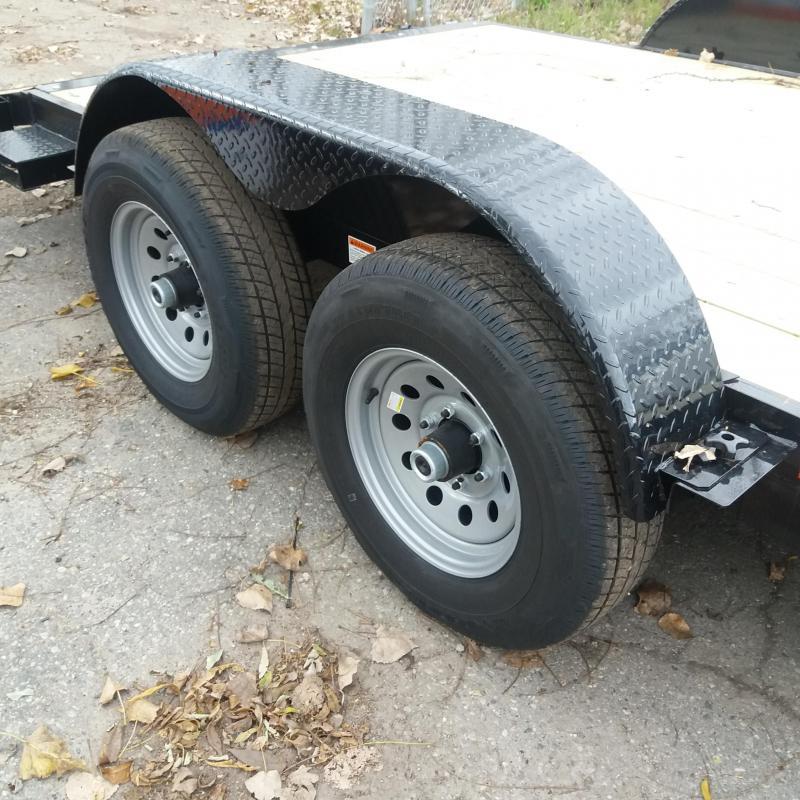 83 X 20 Open Car Hauler/Flatbed Trailer