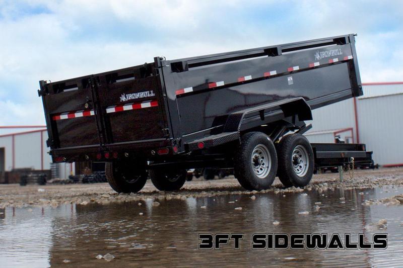 83 x 16 IRON BULL Tri-Axle Dump Trailer 21K