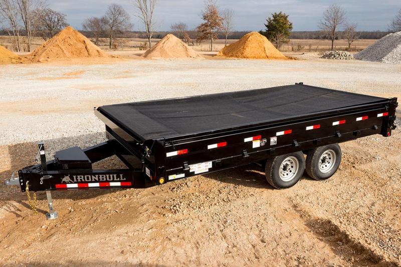 96 x 16 IRON BULL Flip-side Deckover Dump Trailer 14k