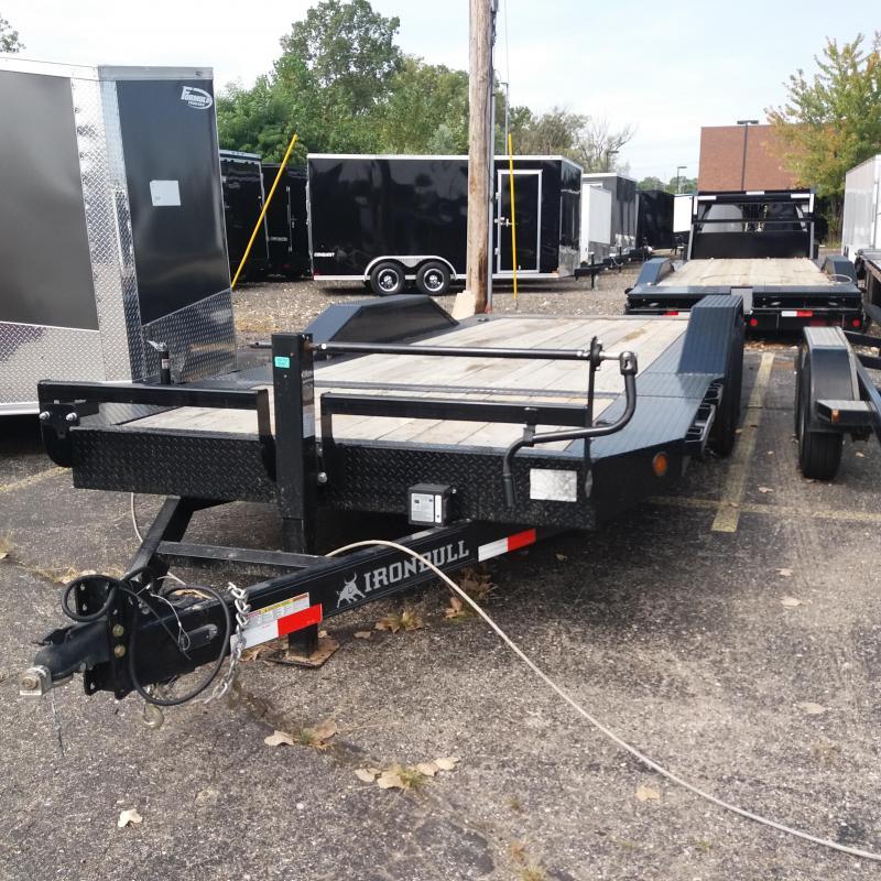 83 X 20 IRON BULL Tilt Low Pro Equipment Trailer 14K