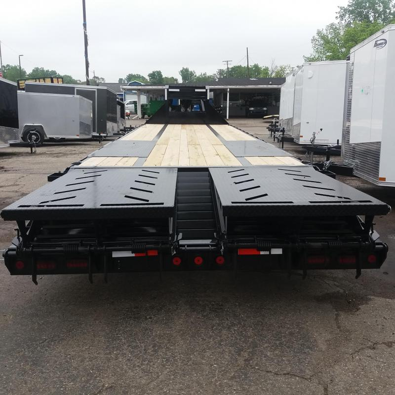102 X 25 IRON BULL Low Pro Open Gooseneck Trailer 20K