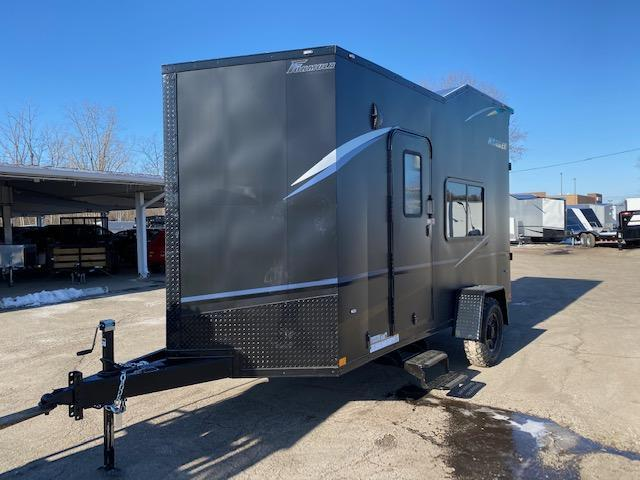 6.5 X 14 Enclosed ATV Trailer - Black Out