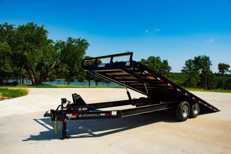 102 X 22 IRON BULL Deckover Tilt Equipment Trailer 14K