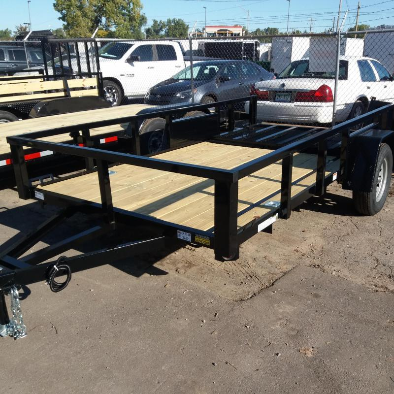 6 X 12 Single Axle Open Utility Trailer