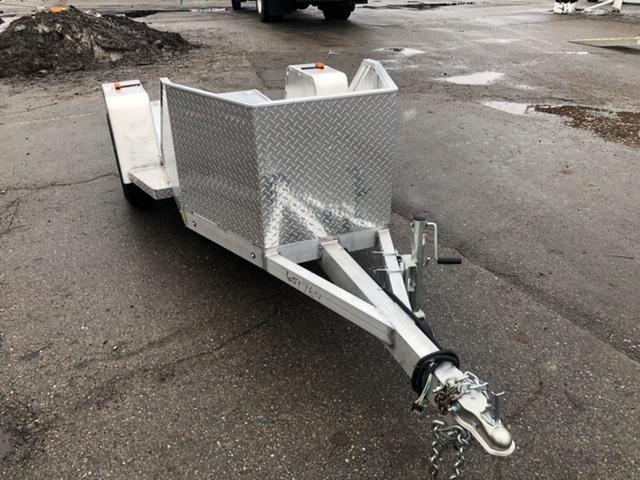 1 Place Open Aluminum Motorcycle Trailer