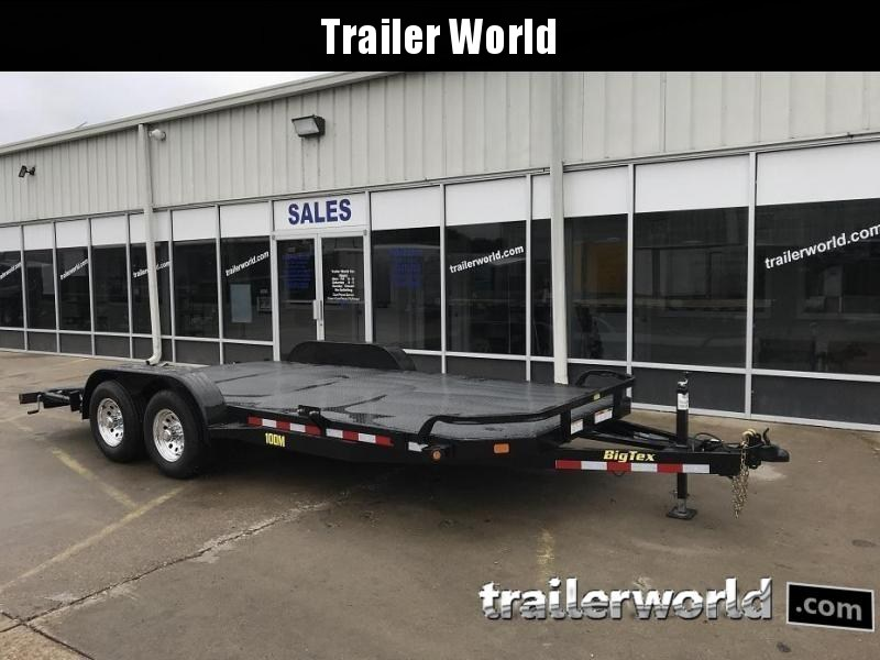 2018 Big Tex 10DM - 18' Steel Deck Open Car Hauler Trailer
